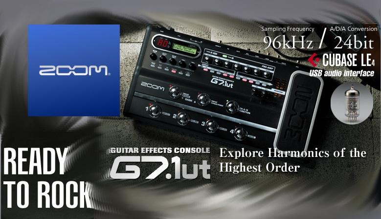 Zoom G7.1ut - Pedaleira Guitarra